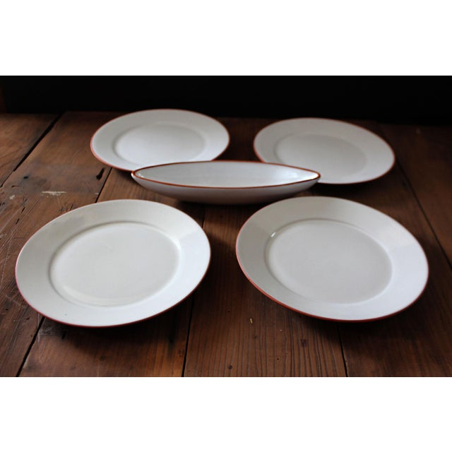 20th Century Loneoak & Co and Molde Terracotta Dining Set of 5 For Sale In San Francisco - Image 6 of 6