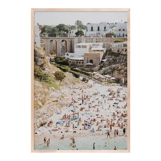Poligano a Mare 4 by Natalie Obradovich in Natural Maple Framed Paper, Large Art Print For Sale