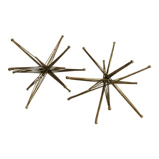 Modern Abstract Star Sculptures - a Pair For Sale