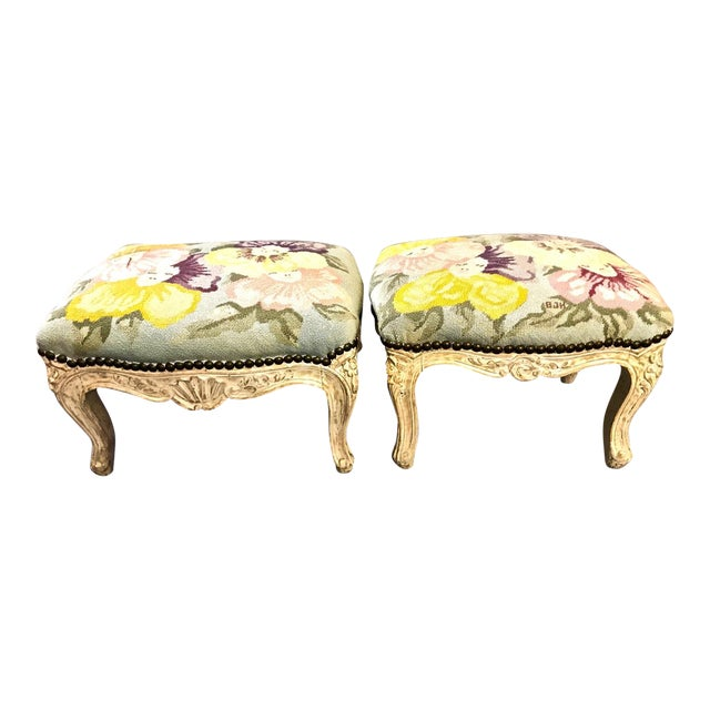 18th Century French Footstools - a Pair For Sale