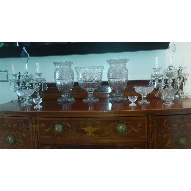 Antique Large Waterford Irish Crystal Vases - 2 For Sale In Miami - Image 6 of 9