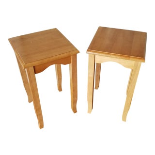 1980's Country French Mini End Tables - a Pair For Sale