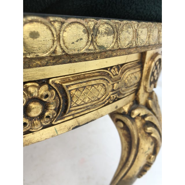 Mid 20th Century Vintage Circular Coffee Table in Gold Finish For Sale - Image 5 of 13