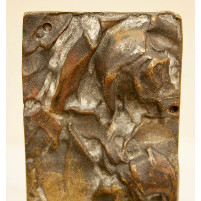 Bronze Abstract on Brass Faux Bamboo Easel - Image 6 of 8