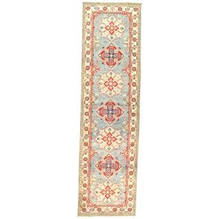 "Pasargad Ny Kazak Design Lamb's Wool Rug - 9'8"" X 2'8"" For Sale"
