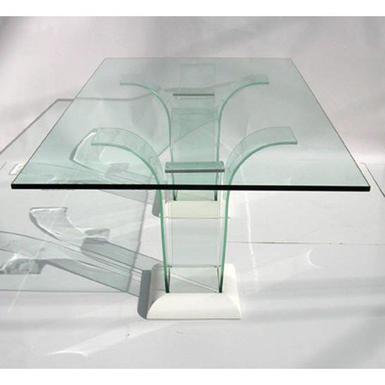 1930s Modernage Glass Dining Table With Chairs For Sale - Image 5 of 9