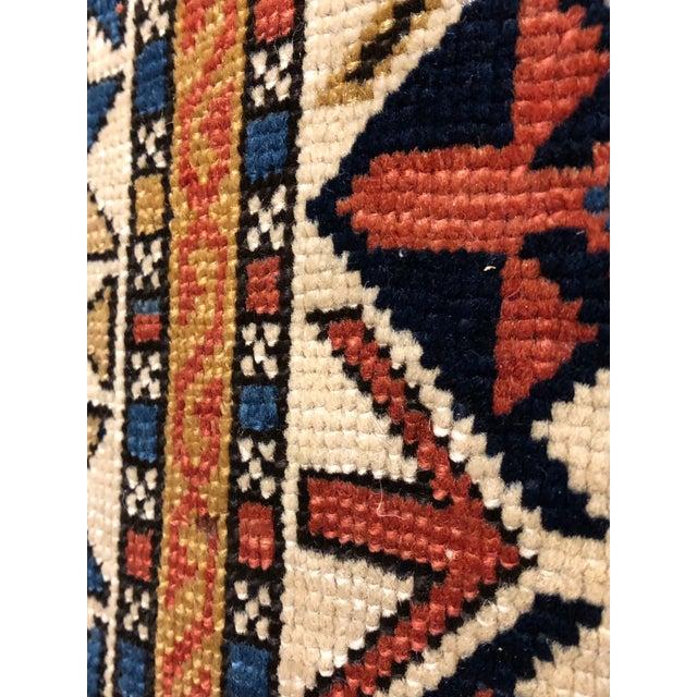 Boho Chic Antique Persian Caucasian Kazak For Sale - Image 3 of 6