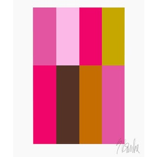 """Pink Composition Fine Art Print 35"""" X 45"""" by Liz Roache For Sale"""