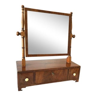 1880s Mahogany Shaving Mirror For Sale