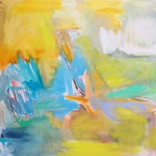 """Large """"Mid July"""" by Trixie Pitts Abstract Oil Painting For Sale"""