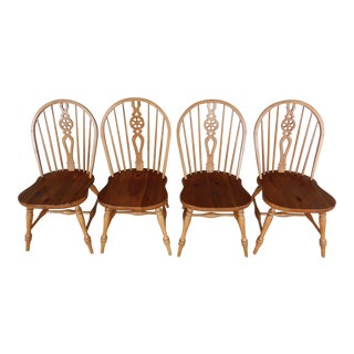Ethan Allen Farmhouse Collection Windsor Style Hoop Back Chairs - Set of 4 For Sale