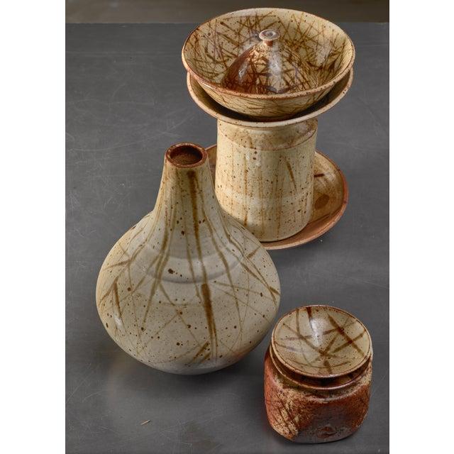 Franco Agnese Set of Nine Franco Agnese Ceramic Pieces, France, 1960s For Sale - Image 4 of 4