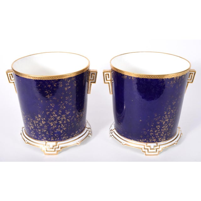 Blue Late 19th Century Matching English Wedgwood Wine Coolers - a Pair For Sale - Image 8 of 11