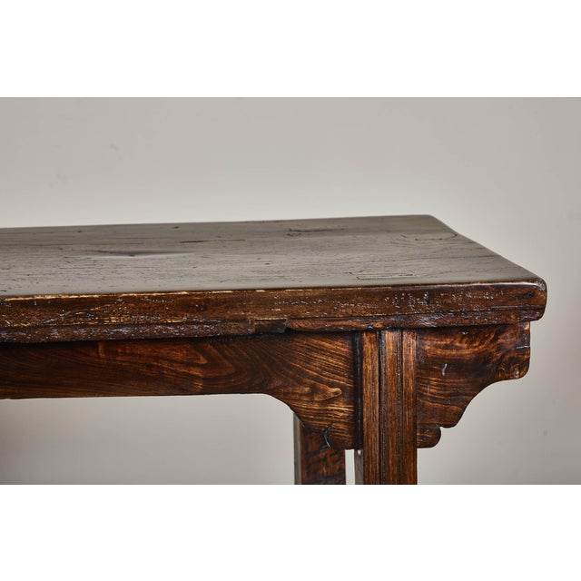 18th Century Chinese Elm Altar Table For Sale - Image 9 of 11