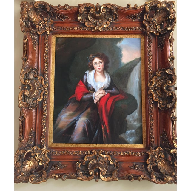 Vintage Oil Portrait of a Contessa For Sale - Image 4 of 11