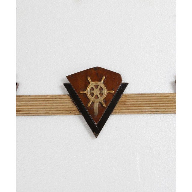 Nautical Coat Hooks From 1970s Cruise Ship For Sale - Image 4 of 6