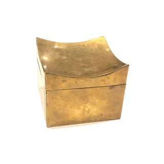 Pointed Corner Brass Box For Sale