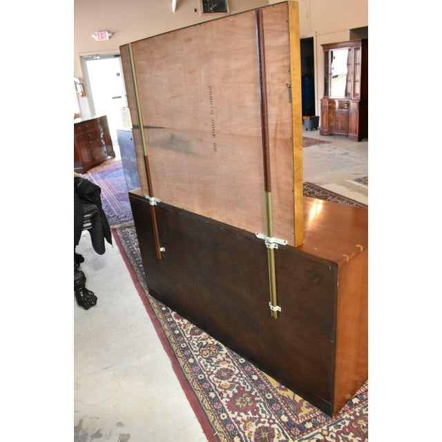 Brown 1952 Heritage Henredon Mid Century Cherry Dresser and Mirror For Sale - Image 8 of 11