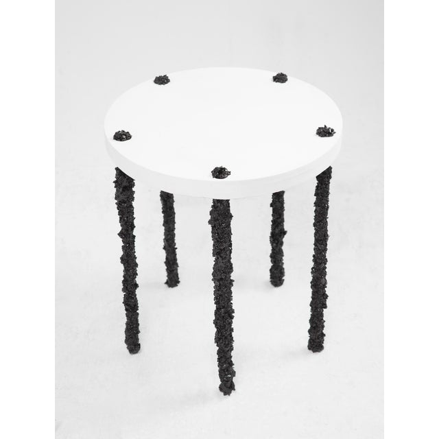 Not Yet Made - Made To Order Hand Made Side Table of Black Tourmaline and White Plaster, by Samuel Amoia For Sale - Image 5 of 5
