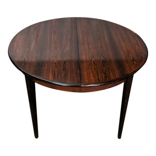 Vintage Danish Mid Century Round Rosewood Table - Jenn For Sale