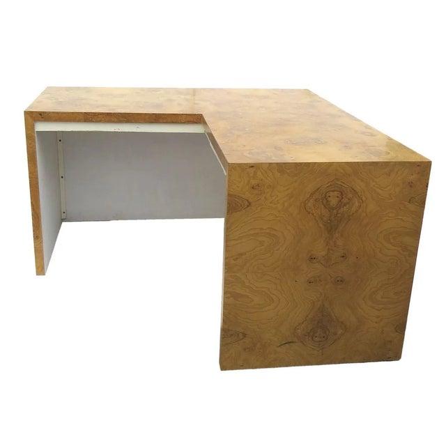 Burl Walnut Desk by Milo Baughman for Thayer Coggin For Sale - Image 9 of 9