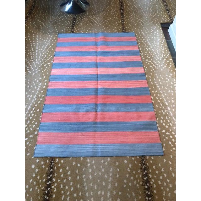 Boho Chic Madeline Weinrib Cotton Flatweave Rug - 3′5″ × 5′5″ For Sale - Image 3 of 3