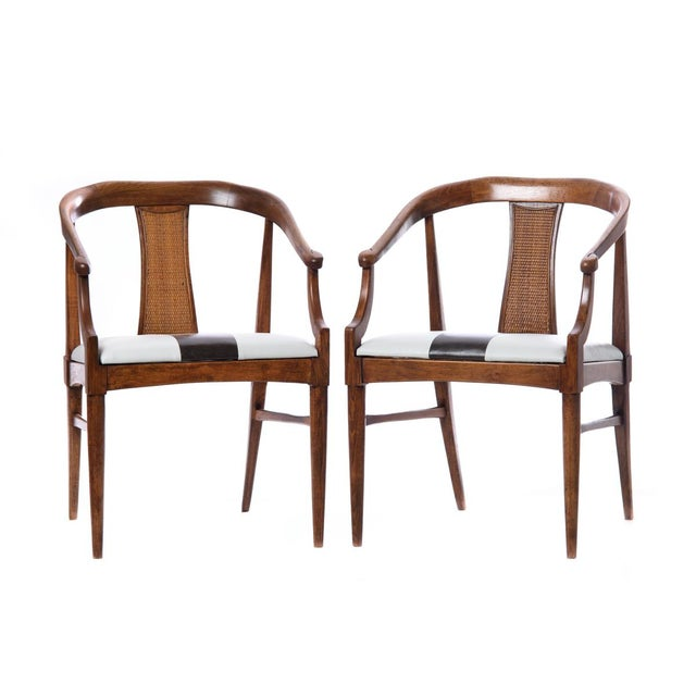 Vintage Mid-Century Wood Curved Back Chairs - A Pair - Image 4 of 4