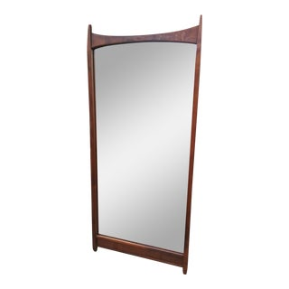 1960s Vintage Merton Gershun for Dillingham Espirit Collection Walnut Wall Mirror For Sale