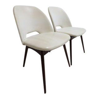 Adrian Pearsall Craft Associates Scoop Side Chairs - a Pair