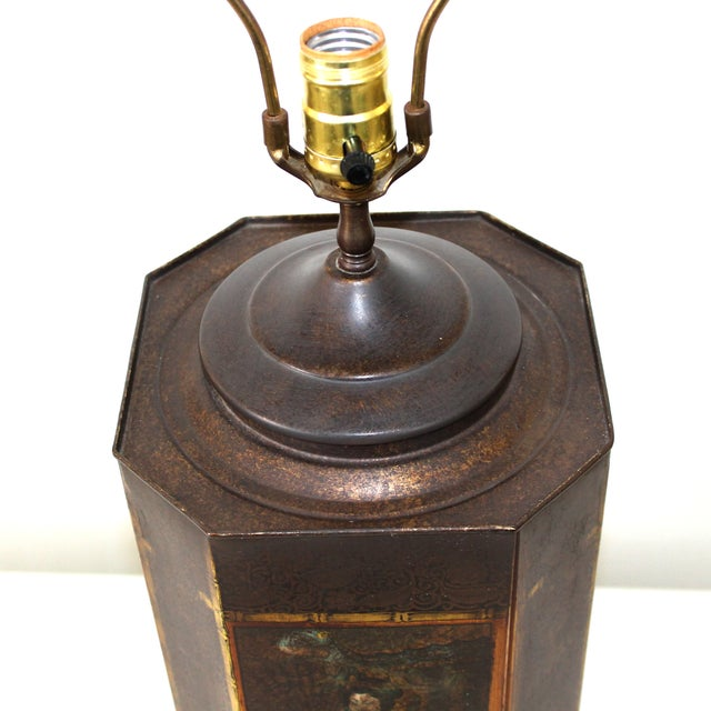 Chapman Asian Toleware Tea Canister Lamp - Image 2 of 7