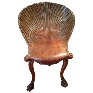19th Century Venetian Grotto Music Chair For Sale