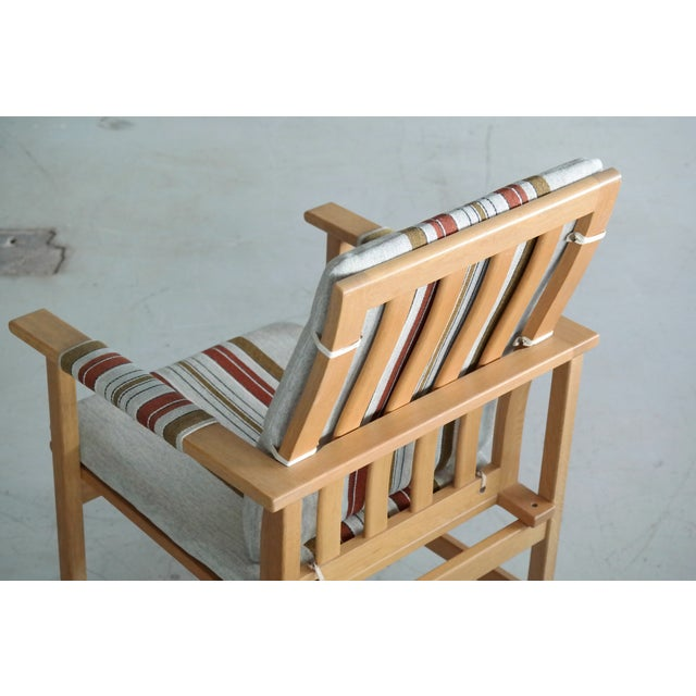 Green Børge Mogensen Model 2257 1960s Oak Lounge Chair for Fredericia Stolefabrik For Sale - Image 8 of 12
