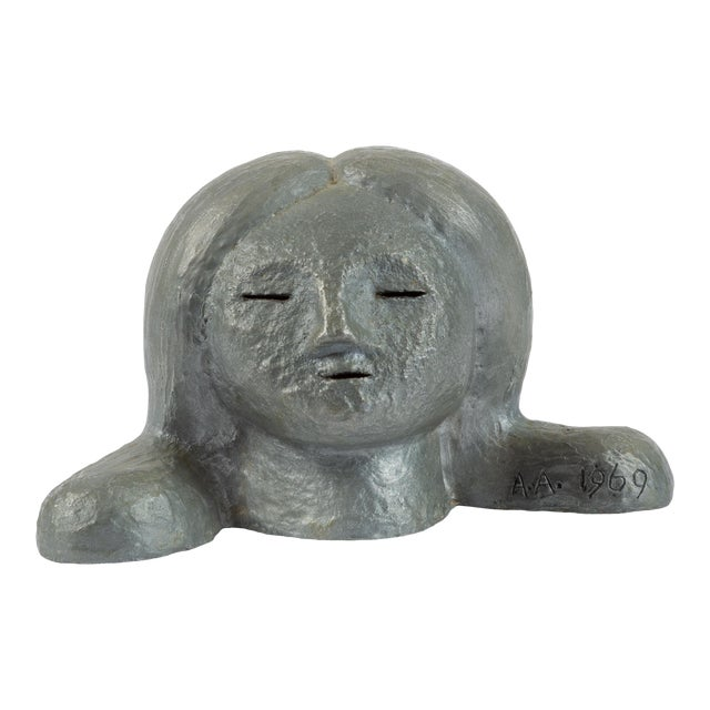 Alexa Acuña Plaster Bust of a Young Child For Sale