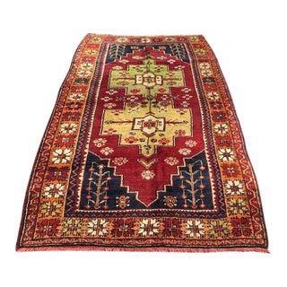 """Vintage Anatolian Area Rug -- 5'8"""" x 10'"""