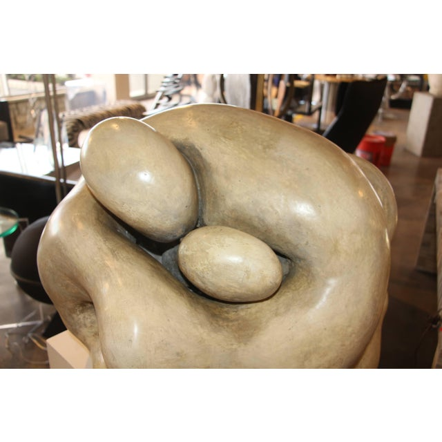 Plaster 1950s Plaster Figurative Sculpture Purchased at a Nyc Gallery For Sale - Image 7 of 10