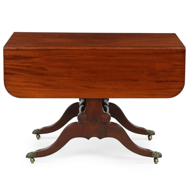 American Classical Mahogany Library Table - Image 6 of 11