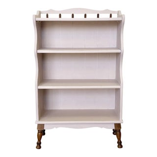 1960s Shabby Chic Pink Bookcase For Sale