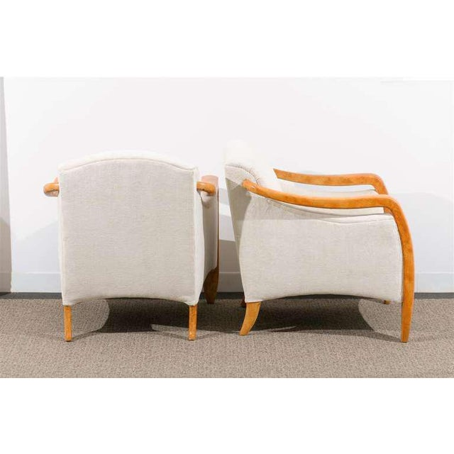 Jaw-Dropping Restored Pair of Modern Club Chairs For Sale In Atlanta - Image 6 of 11