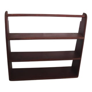 19th Century Original Red Painted Canted Shelf For Sale