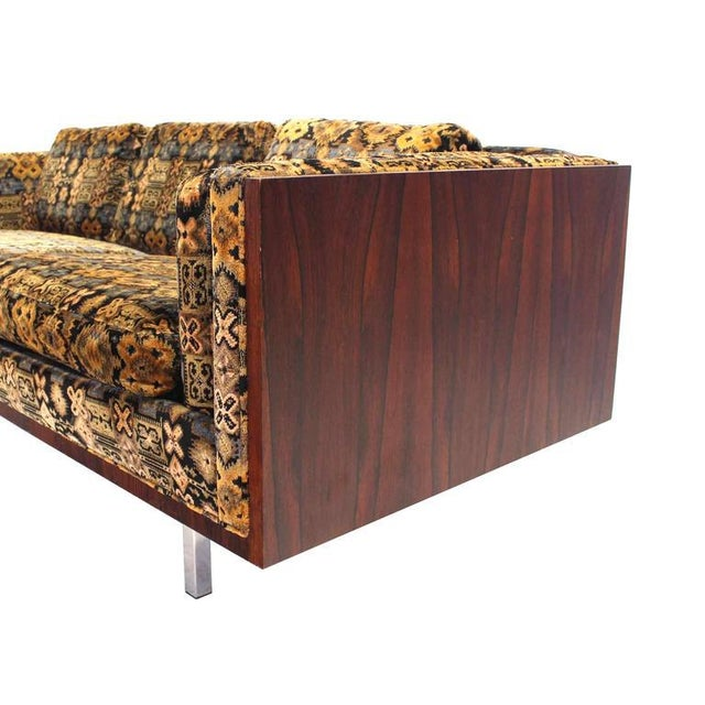 Early 20th Century Mid-Century Modern Chrome and Rosewood Sofa For Sale - Image 5 of 7