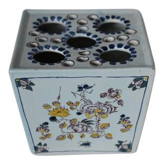 Vintage Delft Flower Vase