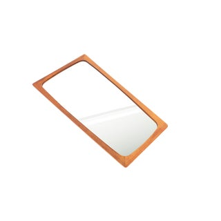 Danish Modern Small Teak Tapered Mirror For Sale