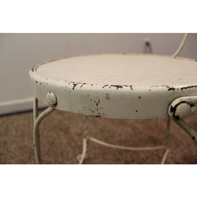 Vintage Ice Cream Heart-Back Wire Side Chair - Image 10 of 11