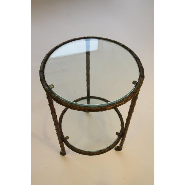 1950s Baguès Bronze Circular Nesting Tables For Sale - Image 9 of 13