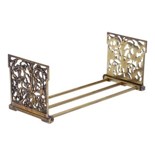 B&h Brass Expanding Bookends Book Rack For Sale