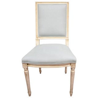 Louis XVI Style Square Back Dining Chair For Sale