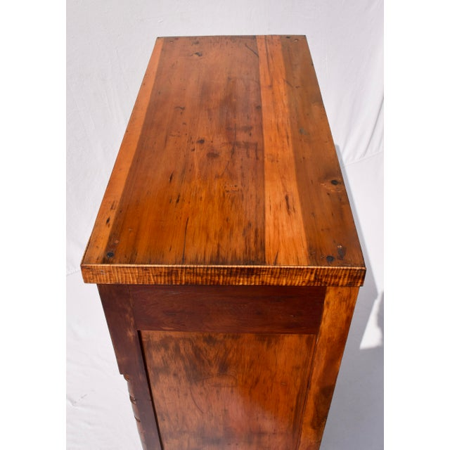 Antique Sheraton Cherry and Stripe Maple Chest of Drawers, Dresser For Sale - Image 10 of 12