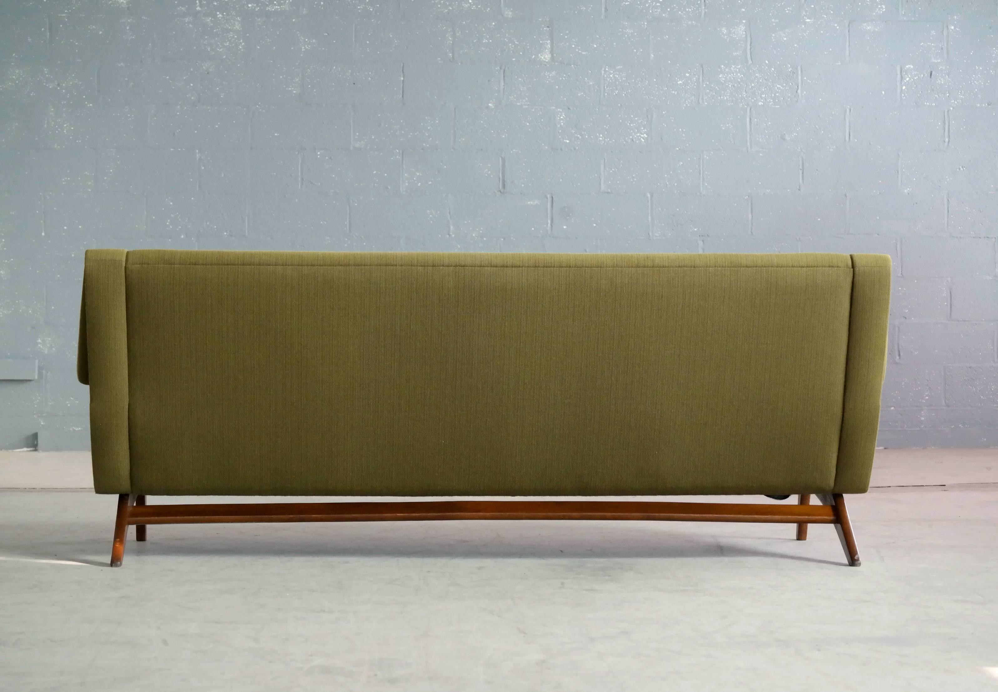 Captivating Danish Midcentury Sofa In Wool And Teak By Erhardsen And Erlandsen For Eran    Image 7