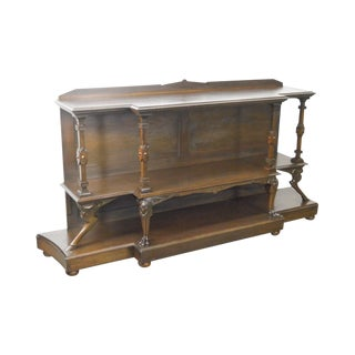 Neo Classical Revival Antique American Walnut Etagere Console For Sale