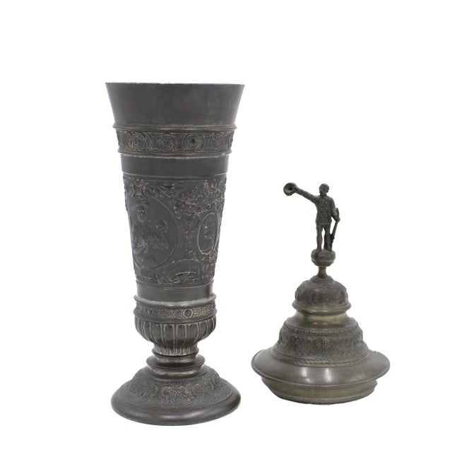 English Renaissance Style Pewter Chalice For Sale In New York - Image 6 of 7